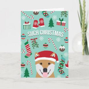 Solche WeihnachtsDoge Shiba Inu Weihnachtskarte