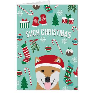 Solche WeihnachtsDoge Shiba Inu Weihnachtskarte Karte