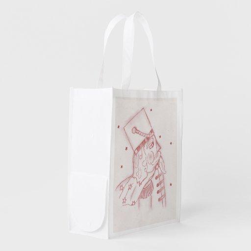 Soldat de jouet en rouge et blanc sacs d'épicerie