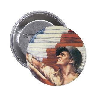 Soldat des Weltkrieg-2 Runder Button 5,7 Cm