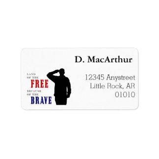 Soldat-Gruß-Adressen-Etiketten Adressetiketten