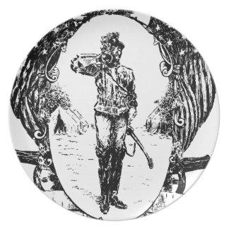 Soldat Melaminteller