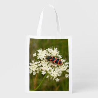 Soldat-oder karierter Käfer-wiederverwendbare Wiederverwendbare Einkaufstasche