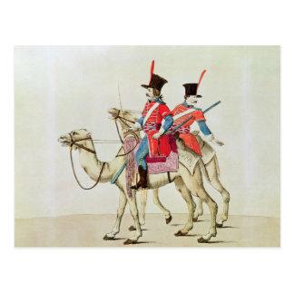 Soldaten des Dromedary-Regiments, 1839 Postkarte