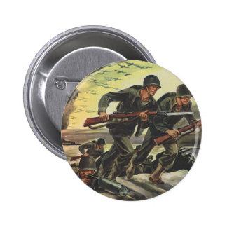 Soldaten des Weltkrieg-2 Runder Button 5,1 Cm