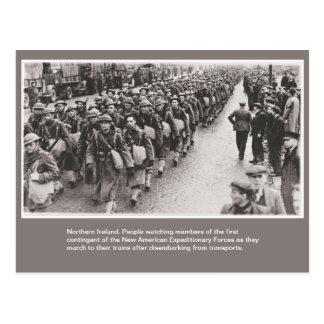 Soldats américains de la guerre mondiale 2 en carte postale