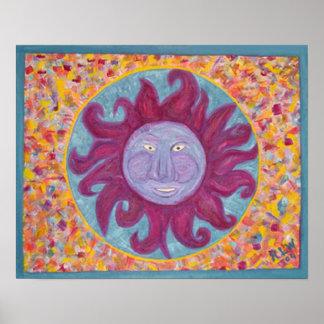 Soleil des Caraïbe d'impression de toile Poster