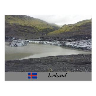 Sólheimajökull Gletscher, Island Postkarte