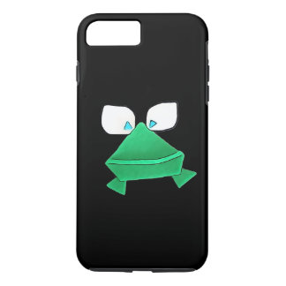 Solo- grüner Frosch auf schwarzem Handy-Kasten iPhone 8 Plus/7 Plus Hülle
