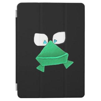 Solo- grüner Frosch auf schwarzer iPad Air Hülle