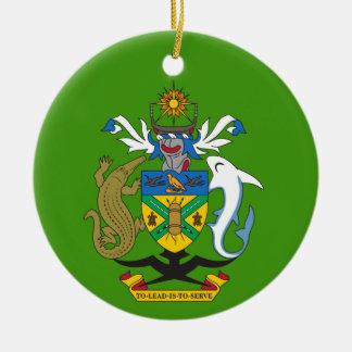 Solomon- IslandWappen-Weihnachtsverzierung Rundes Keramik Ornament