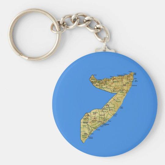 Somalia-Karte Keychain Standard Runder Schlüsselanhänger