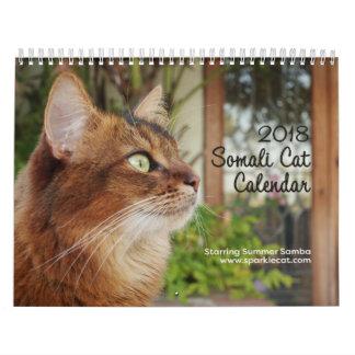 Somalische Katze, Sommer-Samba 2018 die Hauptrolle Kalender
