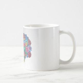 some flowers mug blanc