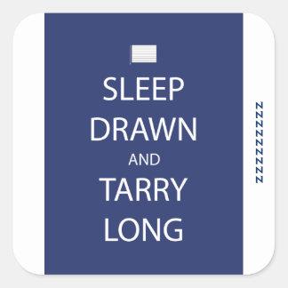 Sommeil dessiné et autocollant de Tarry long