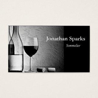 Sommelier-Wein-Flasche Visitenkarten