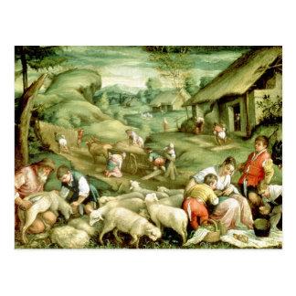 Sommer, 1570-80 postkarte