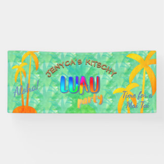 Sommer-Aloha Ananas Kitschy Luau Party-Fahne Banner