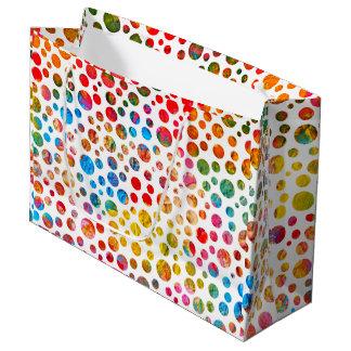 Sommer-Bälle - Tupfen-Muster Große Geschenktüte
