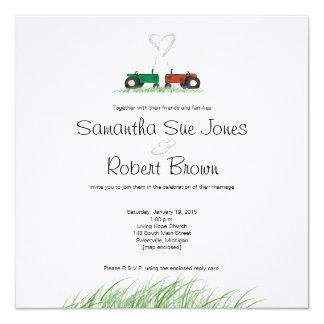 Sommer-Bauernhof-Hochzeits-Einladung Karte