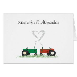 Sommer-Bauernhof-Hochzeits-Einladungs-Karte Karte