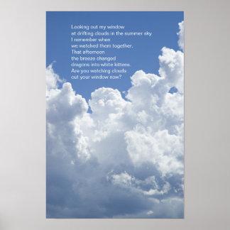 Sommer bewölkt Gedicht Poster