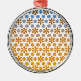 Sommer-Blumen-Feld-Muster Silbernes Ornament
