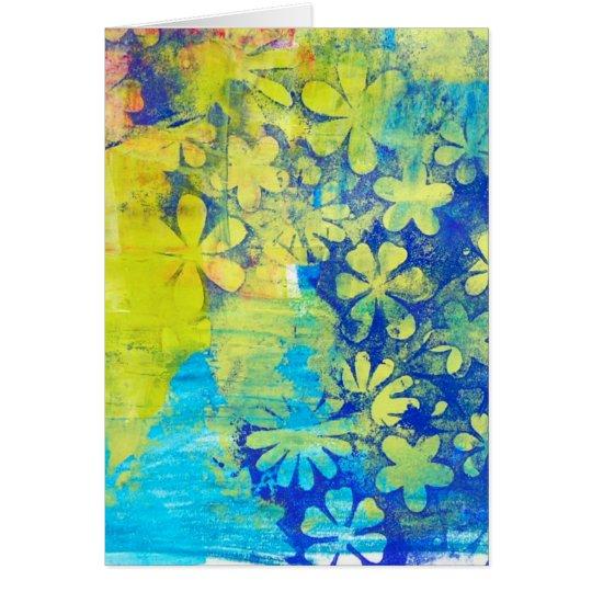 Sommer-Blumen Grußkarte
