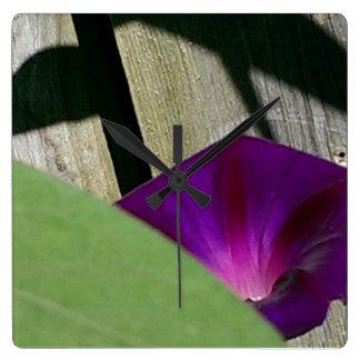 Sommer-Blumen-Wand-Uhr Quadratische Wanduhr