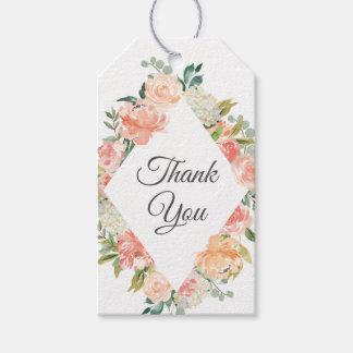 Sommer-BlumenGemisch danken Ihnen Geschenkanhänger