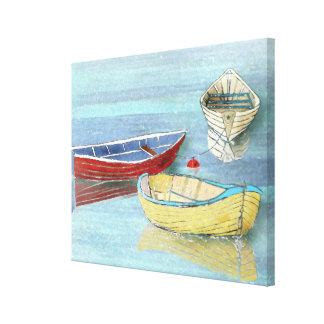 Sommer-Boote am Erholungs-Leinwand-Druck Leinwanddruck