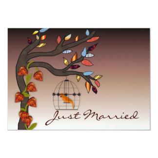 Sommer-Ende gerade verheiratet 12,7 X 17,8 Cm Einladungskarte