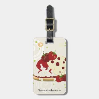 Sommer-Erdbeer-und Eiscreme-Kunst mit Muster Gepäckanhänger