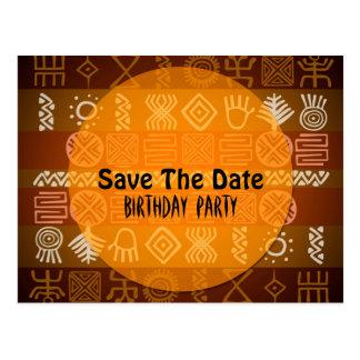 Sommer-ethnischer 18. Geburtstag Save the Date Postkarte