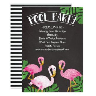 Sommer-Flamingo-Tafel-Pool-Party Karte
