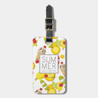 Sommer-Frucht-und Eiscreme-Spaß Kofferanhänger