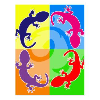Sommer Gecko-Pop Postkarte