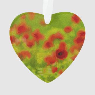 Sommer-Gefühle - wunderbare Mohnblumen-Blumen III Ornament
