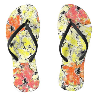 Sommer in Fall-Wildblumen Flip Flops