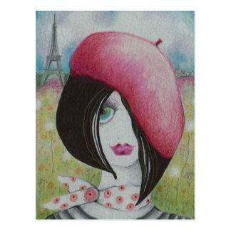 Sommer in Paris Postkarte