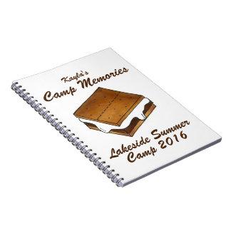 Sommer-Lager-Erinnerungen Smore Smores Foto-Album Notizbuch