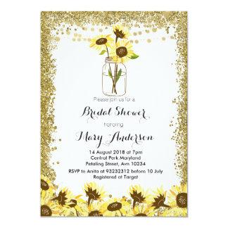 Sommer-Maurer-Glas-Brautparty-Einladung Karte