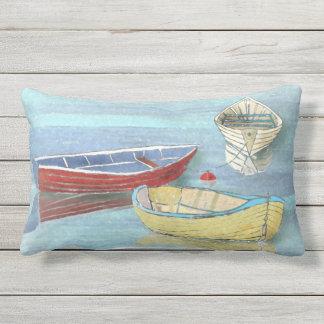 Sommer-Morgen-Boote am Erholunglumbar-Kissen Zierkissen