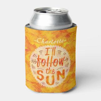 Sommer-orange Sonnenschein folgt dem Dosenkühler