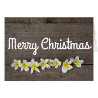 Sommer Plumeria frohe Weihnacht-Feiertags-Karte Grußkarte
