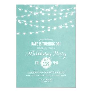 Sommer-Schnur beleuchtet Geburtstags-Party 12,7 X 17,8 Cm Einladungskarte