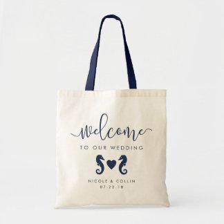 Sommer-Seepferd-Hochzeits-Willkommens-Tasche Tragetasche