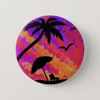 Sommer-Sonnenuntergang Runder Button 5,7 Cm