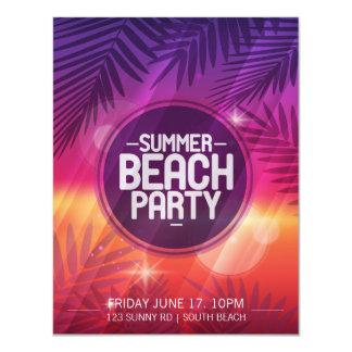 Sommer-Strand-Party-Nachteinladung Karte