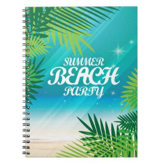 Sommer-Strand-Party Spiral Notizblock